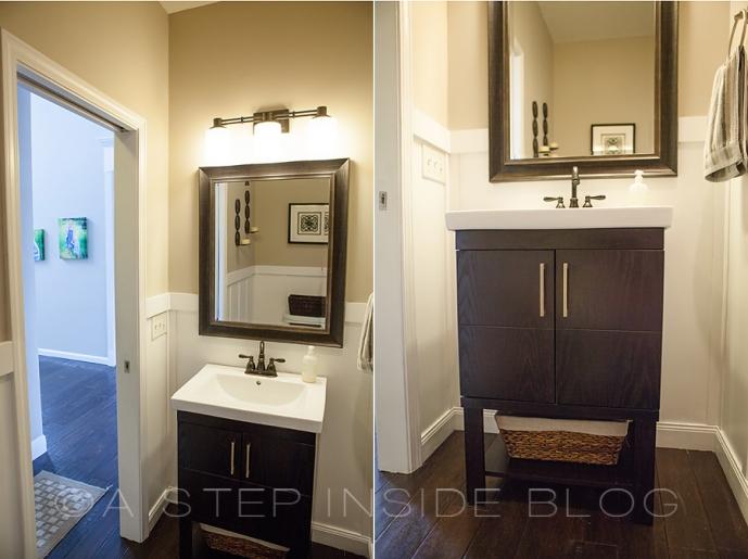 Diy Half Bath Re Do Bathroom Before After A Step Inside