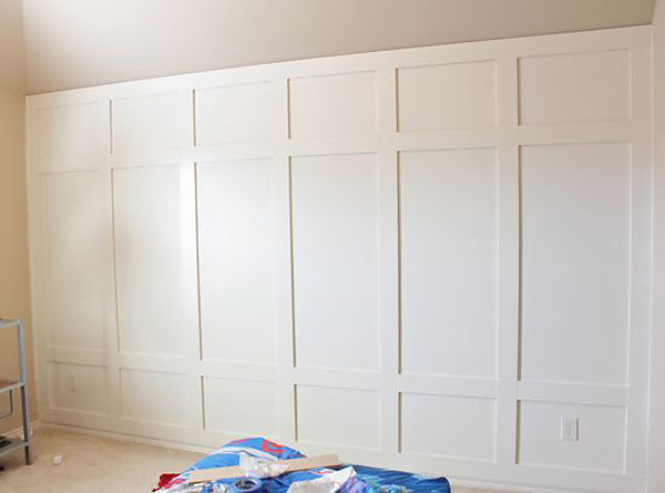 Square Wall Paneling : Diy board batten wainscot combo wall story family a