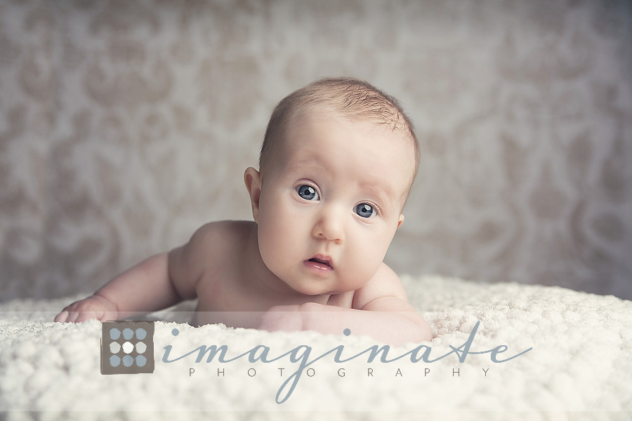 3 month old baby elyse baby photographer bloomington il