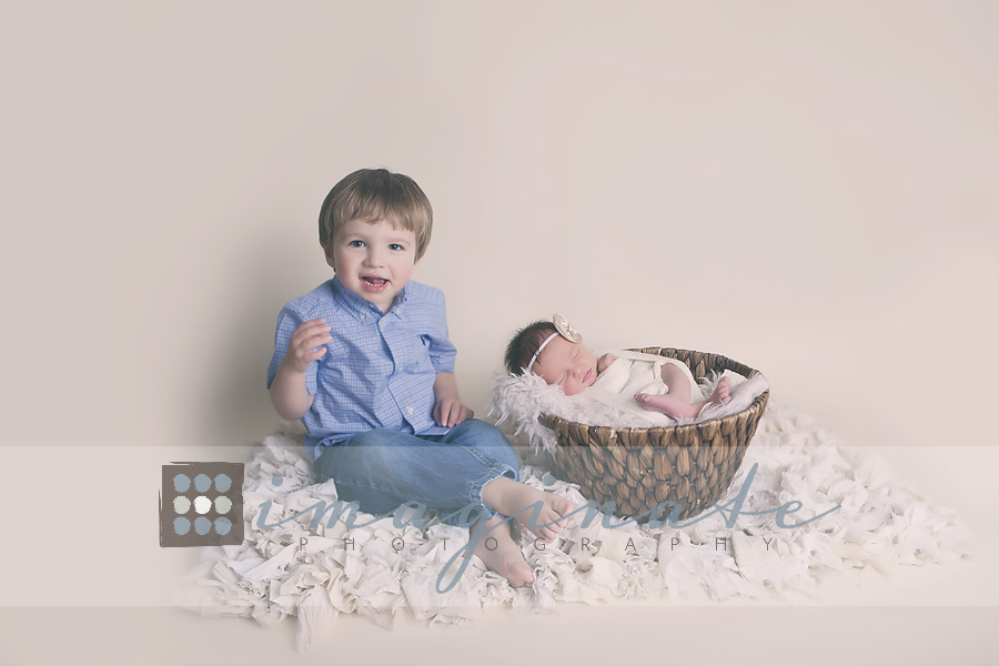 Newborn baby Girl Charlie & brother