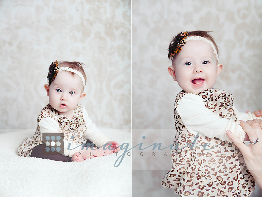 6 month old baby morgan illinois baby photographer