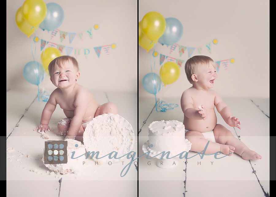 one year old Gannon cake smash 3