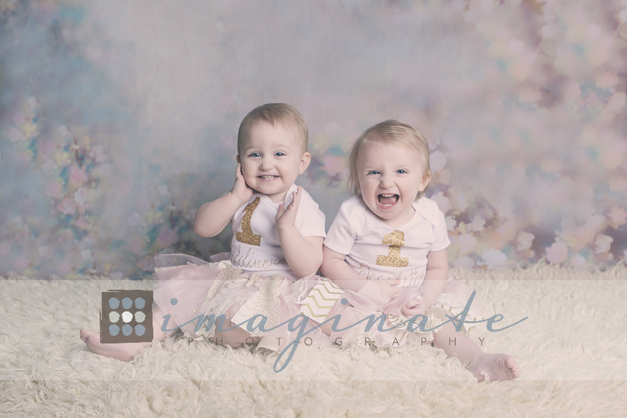 one year old scarlett & madeline 3