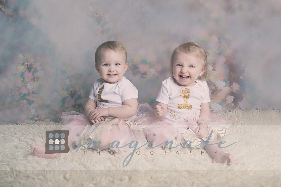 one year old scarlett & madeline