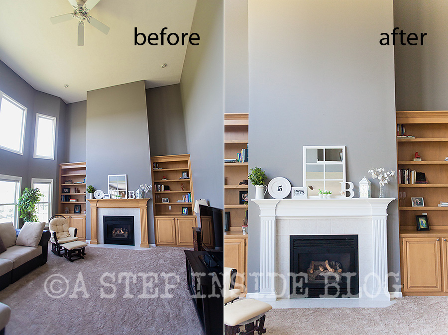 Amazing Another Mantel Before After Painting Maple Wood A Step Download Free Architecture Designs Meptaeticmadebymaigaardcom