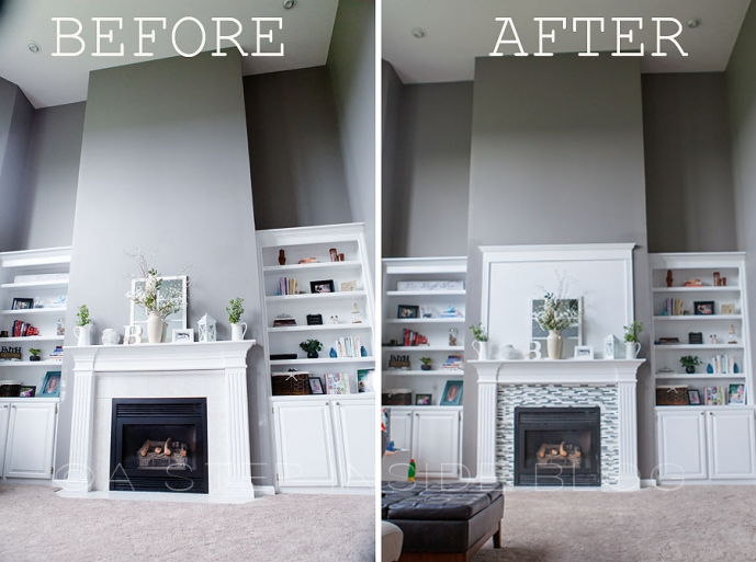 Diy Fireplace Tile Amp Surround Custom Build 187 A Step Inside