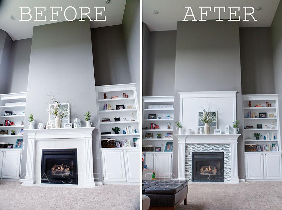 Diy Fireplace Tile Surround Custom Build A Step Inside