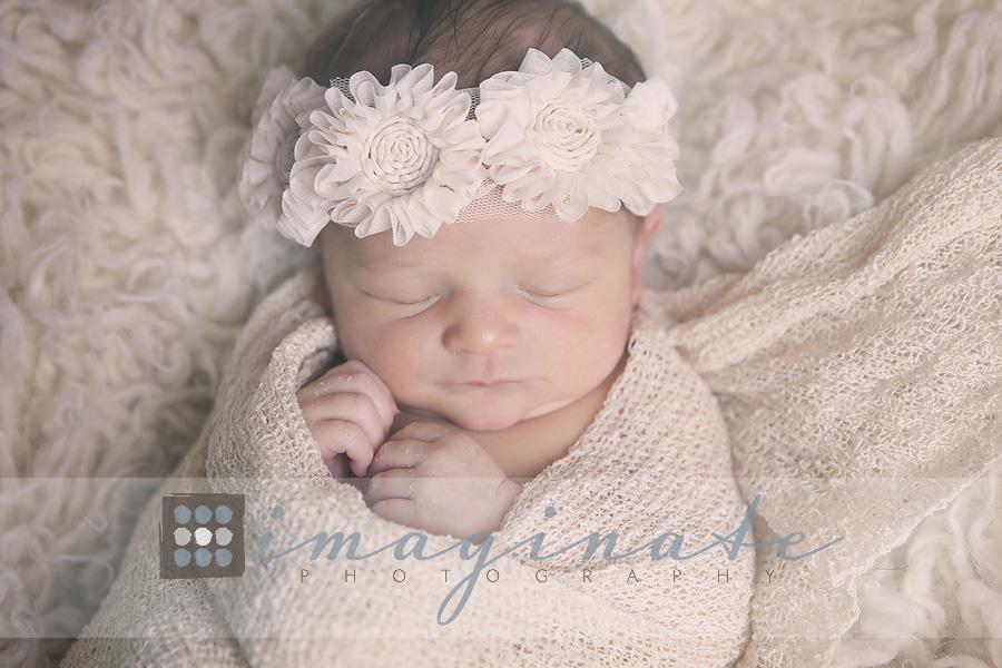 newborn baby girl Becca