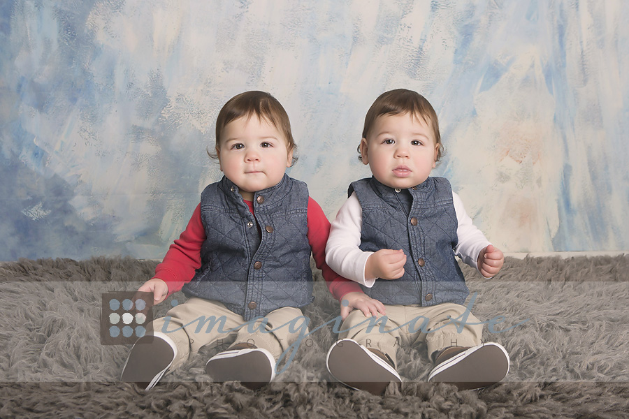 one year old twins Owen & Dylan 8